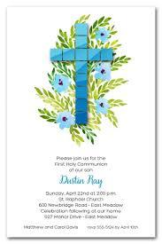 holy communion invitations tile cross holy communion invitations