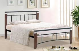 metal classic bed frame in silver or black with slats homegenies