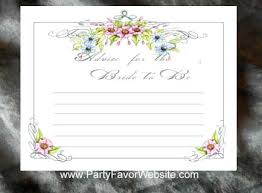 bridal advice cards bridal shower flower seed favor packets personalized free