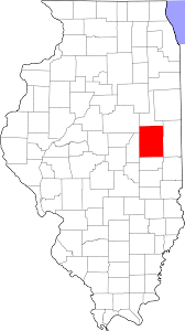 Illinois State Map File Map Of Illinois Highlighting Champaign County Svg Wikimedia
