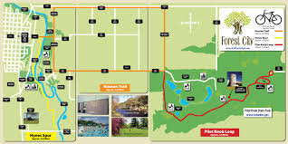 Iowa State Map Forest City Trails Forest City Iowa
