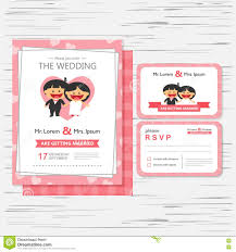wedding invitation card template with happy boy and stock