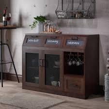 furniture of america wenoga industrial multi storage buffet