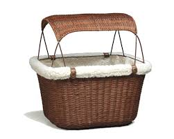 solvit tagalong wicker bicycle basket for dogs petco