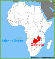 map world africa zambia location on the africa map