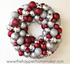 christmas ball ornament wreath craft how to make an easy diy
