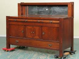 revolving bookcase antique mission style sideboard mission style