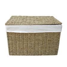 Bathroom Ottoman Storage Woven Basket Storage Ottoman Wicker Basket Storage Unit For