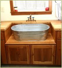 Kitchen Sinks And Cabinets Galvanized Bucket Sink Galvanized Bucket Sink Best Home Design