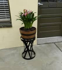 5 gallon half barrel planter with tall stand