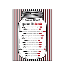 bridal shower game guess who couples shower game by thevintagepen