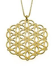 sterling gold necklace images Circle of life mandala 18k gold plated sterling silver necklace jpg