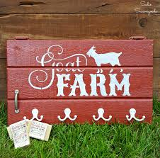 Barn Style by Stenciled Farm Sign On A Barn Style Salvaged Cabinet Door