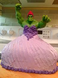 dad wins internet princess hulk cake
