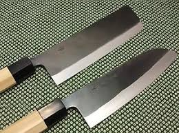 japanese chef u0027s knife set santoku nakiri handmade kurouchi made in