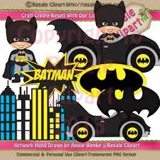 batman inspired clip art graphics resale clipart 3 00