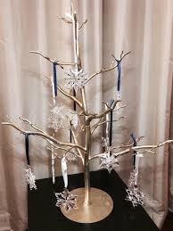 swarovski snowflake annual ornament metal tree display