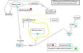 xr650r turn signal wiring problem help greatly appreciated