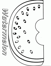 123 coloring pages watermelon coloring pages