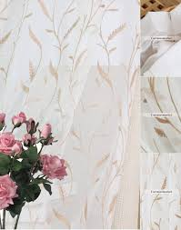 Sheer Embroidered Curtains Botanical Sheer Curtains With Embroidery