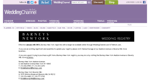 the wedding channel registry access checkout weddingchannel barneys new york bridal