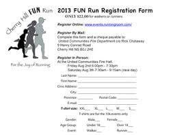 5 best photos of fun run registration form sample fun run