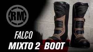 mc boots falco mixto 2 adventure motorcycle boots youtube