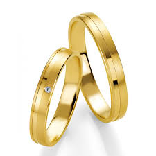 alliance or duo d alliances breuning or jaune massif et or et diamants pour
