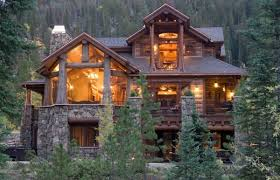 cool cabin terrific cool log cabin designs using natural stone wall cladding