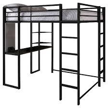 Metal Frame Loft Bed With Desk Abode Metal Loft Bed Full Black Dorel Home Products Target