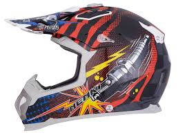 open face motocross helmet nenki nk 315 pistons black blue red motocross helmet all