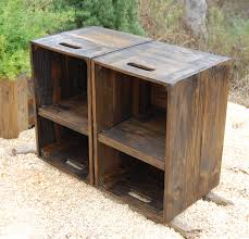 Diy Reclaimed Wood Side Table by Wooden Crates Nightstand Pair Of Side Tables Reclaim Wood