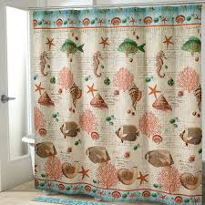 Touch Of Class Shower Curtains Seaside Vintage Fish Shower Curtain