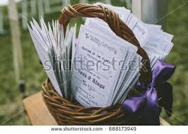 basket for wedding programs wedding program stock images royalty free images vectors