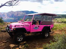 jeep usa road trip usa pink jeep sedona hopping around the world