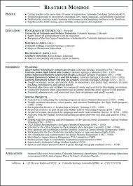 resumes exles for teachers resume exles reflection pointe info