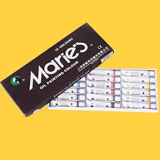 buy marley brand 2024 oil paint color painting kit 24 ml marley
