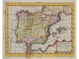Spain Portugal Map by Spain Portugal Antique Old Maps And Collectible Cartography