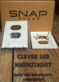 night light outlet cover clever led nightlight solution from snappower family focus blog