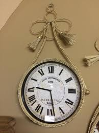 cream metal braided shabby chic wall clock mulberry moon