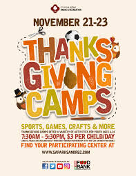 thanksgiving child activities thanksgiving camps the city of san antonio official city website
