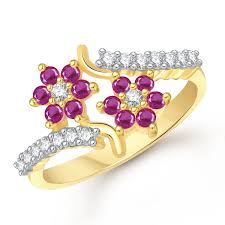 finger gold rings images Buy meenaz jewellery gold plated red rings for girls women in jpg