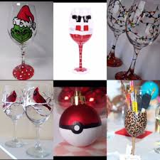 wine glass party favor northern middle wine glass ornament sip paint fundraiser