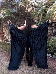 Crow Halloween Costume Maleficent Costume Wings Floor Length Costume Wings Crow