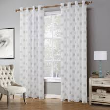 Winter Window Curtains Embroidered White Curtains Tulle Fabrics Bedroom Snow Home Window