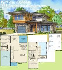 plan 70546mk master up modern house plan with one car garage