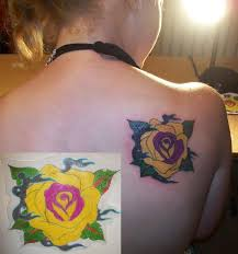 yellow rose tattoo by artworkbymatward on deviantart