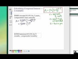 how to calculate compound interest 1 youtube