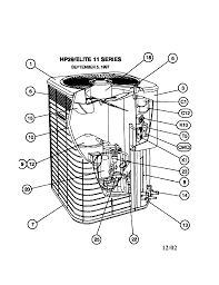 lennox condenser fan motor lennox model hp29 048 1p air conditioner heat pump outside unit