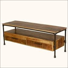 mango wood coffee table with storage industrial iron pipe mango wood tv media stand with drawers